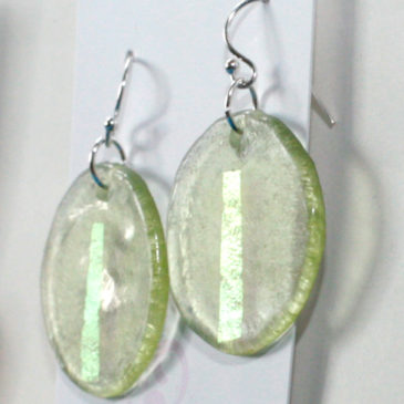 Earrings spring green gold