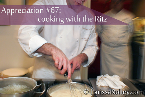 Appreciation #67: cooking with the Ritz