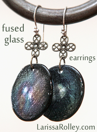 dark iridescent glass