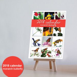 2018 Desktop Calendar – Monarch Butterfly