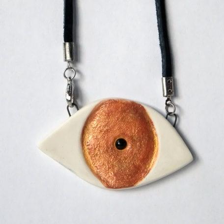 Larissa Rolley evil eye necklace
